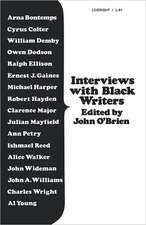 Interviews with Black Writers