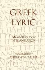 Greek Lyric: An Anthology in Translation