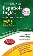 Diccionario Espanol-Ingles Merriam-Webster:  Leather-Look Hardcover, Thumb-Notched with Win/Mac CD-ROM