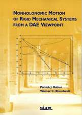 Nonholonomic Motion of Rigid Mechanical Systems from a DAE Viewpoint