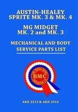 Austin-Healey Sprite MK 3 & MK 4 MG Midget MK 2 and MK 3 Mechanical and Body Service Parts List
