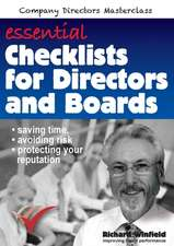 Essential Checklists for Directors and Boards