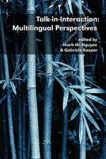 Talk-In-Interaction:  Multilingual Perspectives