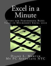 Excel in a Minute