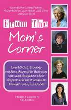 From the Mom's Corner