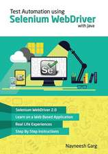 Test Automation Using Selenium Webdriver with Java