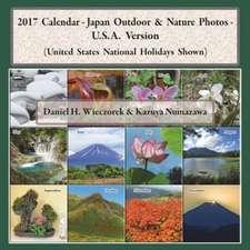 2017 Calendar - Japan Outdoor & Nature Photos - U.S.A. Version