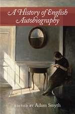 A History of English Autobiography
