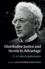 Distributive Justice and Access to Advantage: G. A. Cohen's Egalitarianism