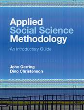 Applied Social Science Methodology