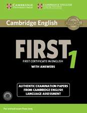 Cambridge English First 1 for Revised Exam from 2015 Student's Book Pack (Student's Book with Answers and Audio CDs (2)): Authentic Examination Papers from Cambridge English Language Assessment