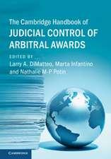 The Cambridge Handbook of Judicial Control of Arbitral Awards