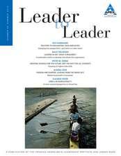 Leader to Leader (LTL), Volume 65, Summer 2012