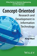 Concept–Oriented Research and Development in Information Technology