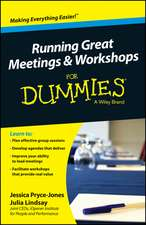 Running Great Meetings & Workshops for Dummies