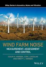 Wind Farm Noise: Measurement, Assessment, and Control