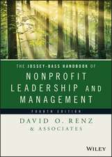 The Jossey–Bass Handbook of Nonprofit Leadership and Management
