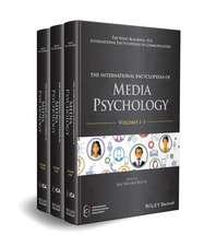The International Encyclopedia of Media Psychology: 3 Volume Set