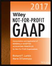 Wiley Not–for–Profit GAAP 2017