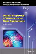 Optical Properties of Materials and Their Applications