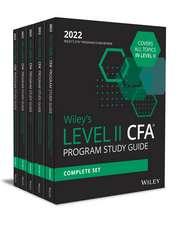 Wiley′s Level II CFA Program Study Guide 2022: Complete Set