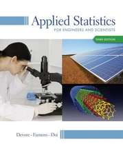 Applied Statistics for Engineers and Scientists:  A Calculus-Based Text