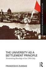 The University as a Settlement Principle