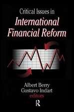 CRITICAL ISSUES IN INTERNATIONAL FI