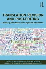 Translation Revision and Post-editing