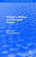 People's History and Socialist Theory