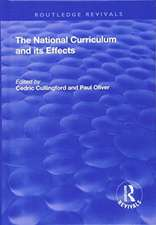 The National Curriculum and its Effects