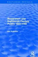Restoration and Eighteenth-Century Poetry 1660-1780 (Routledge Revivals)