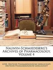 NAUNYN-SCHMIEDEBERG'S ARCHIVES OF PHARMA