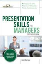 Presentation Skills For Managers, 2E