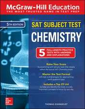 McGraw-Hill Education SAT Subject Test Chemistry, Fifth Edition