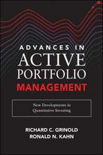 Advances in Active Portfolio Management: New Developments in the Quantitative Approach to Investing