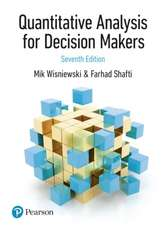 Quantitative Analysis for Decision Makers, 7th Edition (formerly known as Quantitative Methods for Decision Makers)