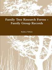 Family Tree Research Forms - Family Group Records