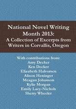 National Novel Writing Month 2013
