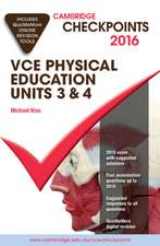 Cambridge Checkpoints VCE Physical Education Units 3 and 4 2016 and Quiz Me More