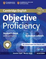 Objective Proficiency Student's Book with Answers with Downloadable Software Romanian Edition