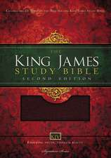 KJV Study Bible, Large Print, Bonded Leather, Burgundy, Thumb Indexed, Red Letter Edition: Second Edition