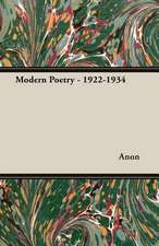 Modern Poetry - 1922-1934