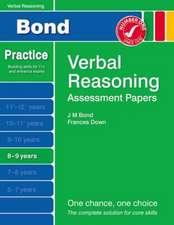 Bond Assessment Papers Verbal Reasoning 8-9 yrs