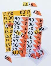 Place value money cards