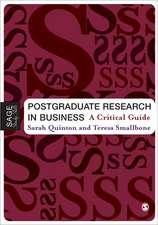 Postgraduate Research in Business: A Critical Guide