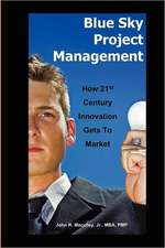 Blue Sky Project Management:  How 21st Century Innovation Gets to Market