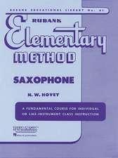 Rubank Elementary Method Saxophone