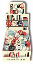 Books Rock ! Buttons:  Buttons for Book Lovers