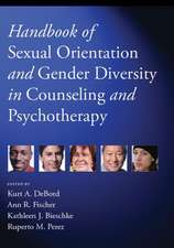 Handbook of Sexual Orientation and Gender Diversity in Counseling and Psychotherapy